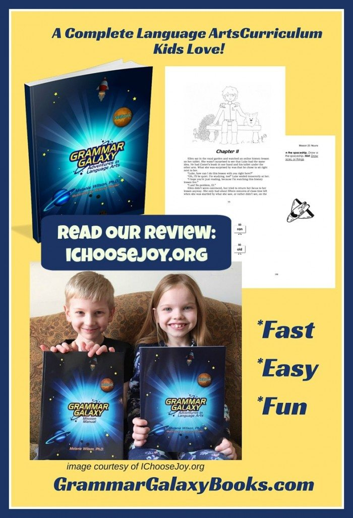 Grammar Galaxy Language Arts Curriculum for Early Elementary review at ichoosejoy.org
