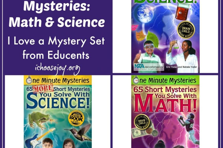 Review I Love a Mystery Set Math and Science One Minute Mysteries