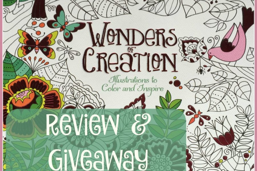 Review and Giveaway of Wonders of Creation- Illustrations to Color and Inspire