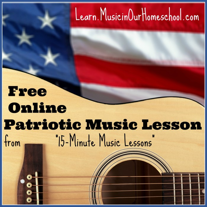 Free Online Patriotic Music Lesson