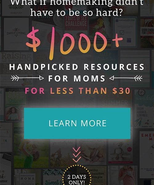 2-Day Flash Sale of Ultimate Homemaking Bundle–Over 90 Resources, only $29.97!