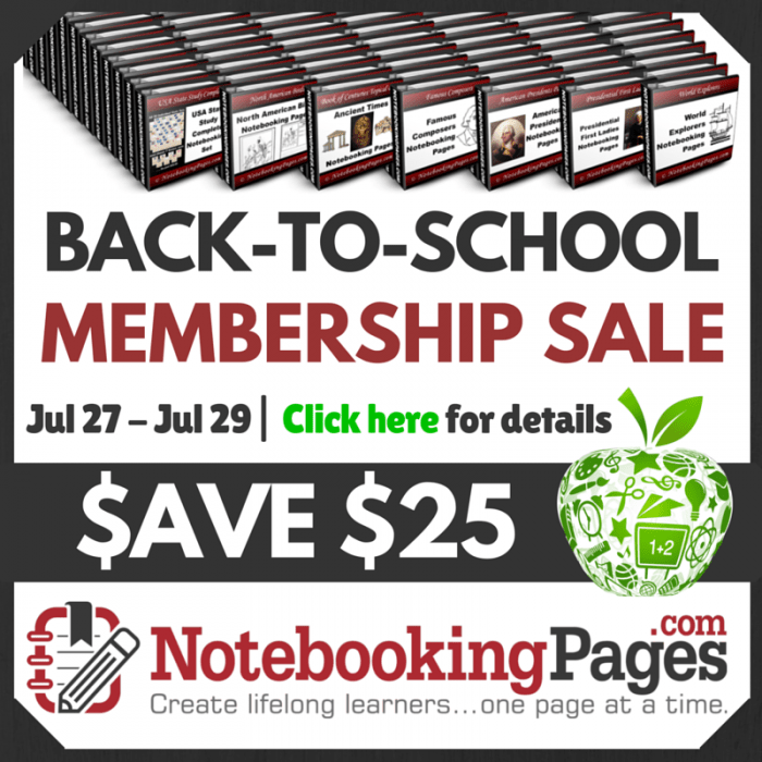 Notebooking Pages Sale