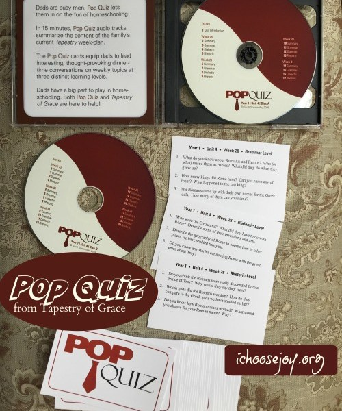 How to Use the Tapestry of Grace Pop Quiz