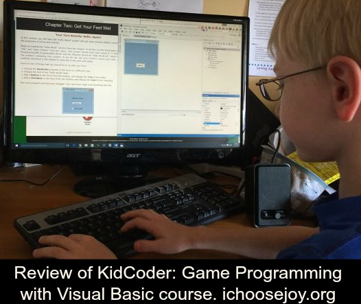 Review of KidCoder Game Programming with Visual Basic course
