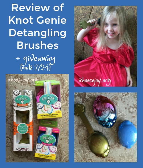 Review of Knot Genie Detangling Brushes (plus giveaway ends 7-24)