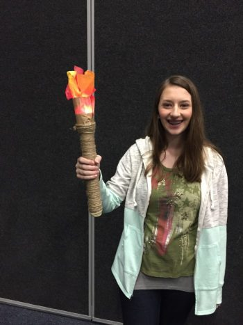 Torch prop made of flashlight