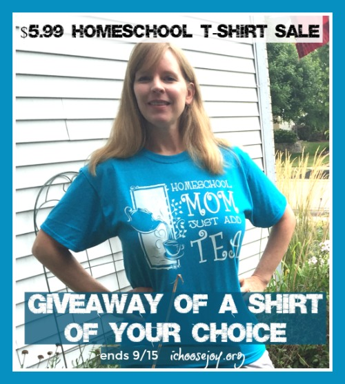 $5.99 Homeschool T-Shirt Sale and Giveaway