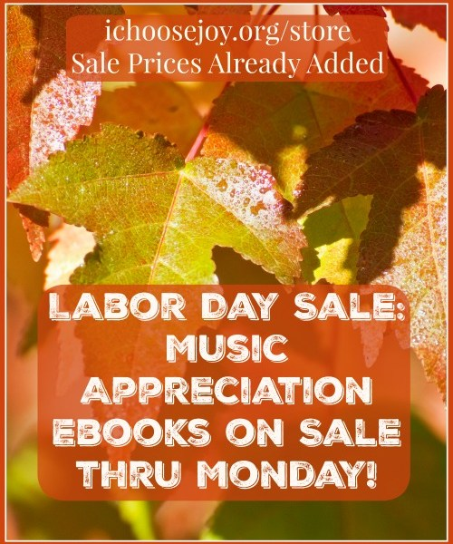 Music Appreciation Ebook Labor Day sale