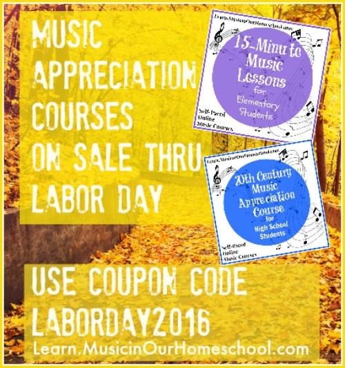 Music Appreciation Courses on Sale Thru Labor Day
