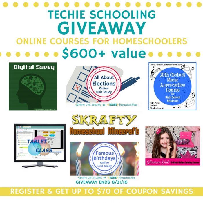 Techie Schooling Online Courses for Homeschoolers Giveaway