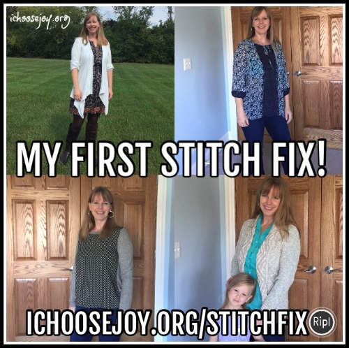 My first Stitch Fix - my clothes choices
