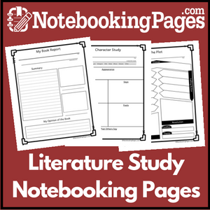 Notebooking Pages Literature Study