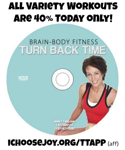 All T-Tapp Variety Workouts are 40% off Today only!
