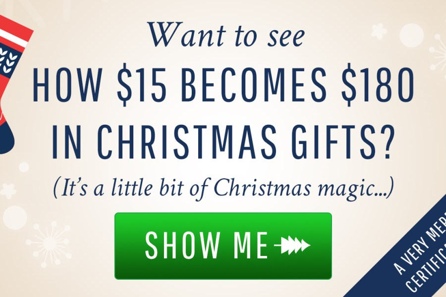Get $180 in Gift Certificates only spending $15!