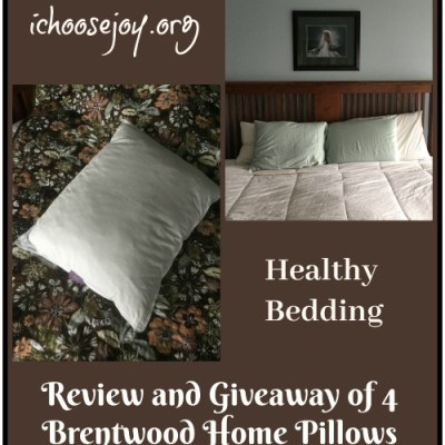 Sleep Wellness Pillows from Brentwood Home (review and giveaway)