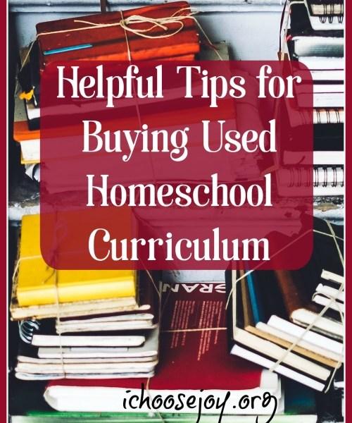 Helpful Tips for Buying Used Homeschool Curriculum