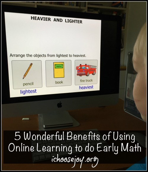 5 Wonderful Benefits of Using Online Learning to do Early Math