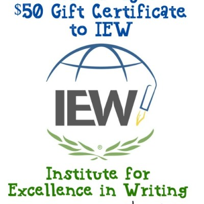 IEW $50 Gift Certificate Giveaway