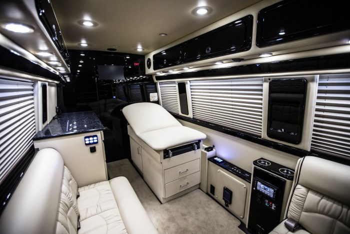 Stork Bus Interior, a mobile medical clinic for women with unplanned pregnancies