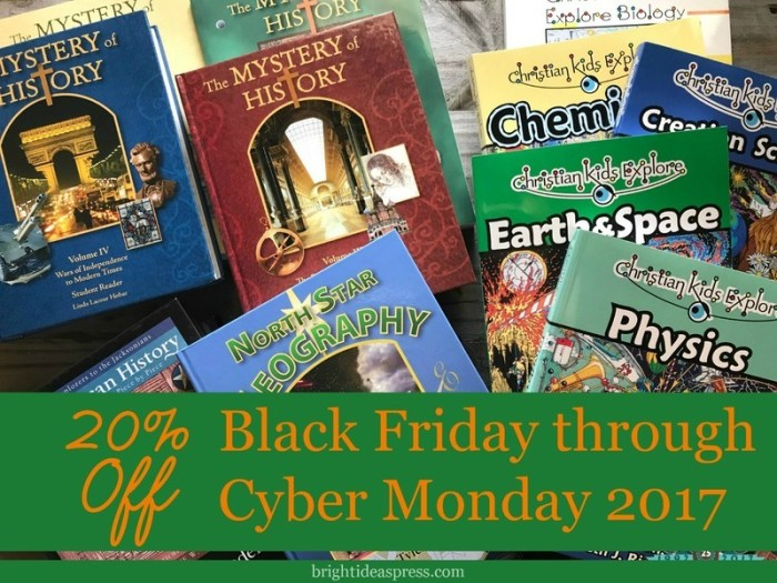 Bright Ideas Press Black Friday sale