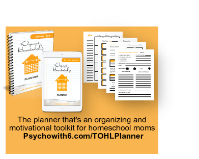The Organized Homeschool Life Planner, the perfect companion for the awesome book The Organized Homeschool Life, which guides you through weekly missions to get organized in only 15 minute segments
