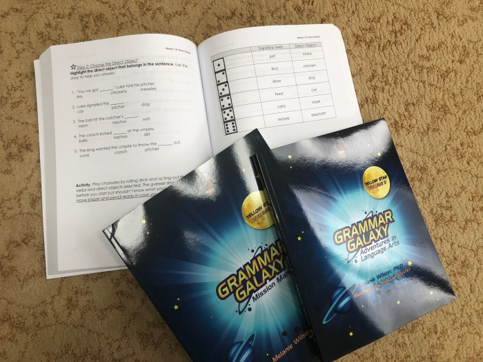 Grammar Galaxy Yellow Star Mission Manual and Text