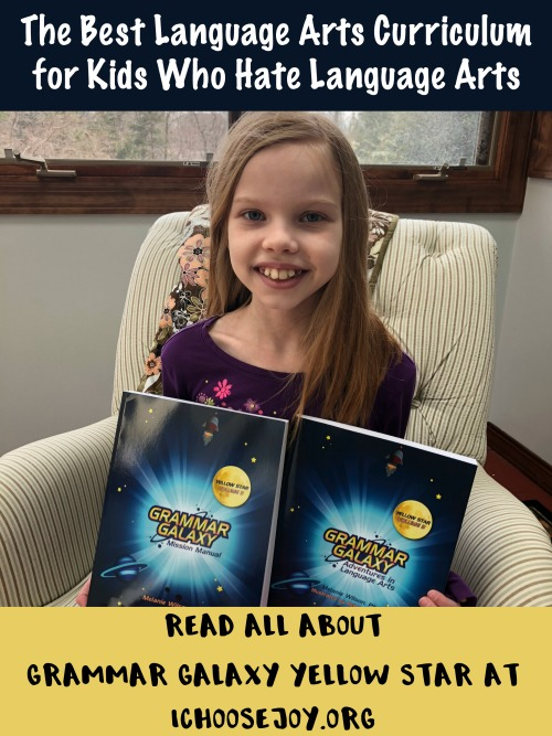 The Best Language Arts Curriculum for Kids Who Hate Language Arts - Read all about Grammar Galaxy Yellow Star at ichoosejoy.org