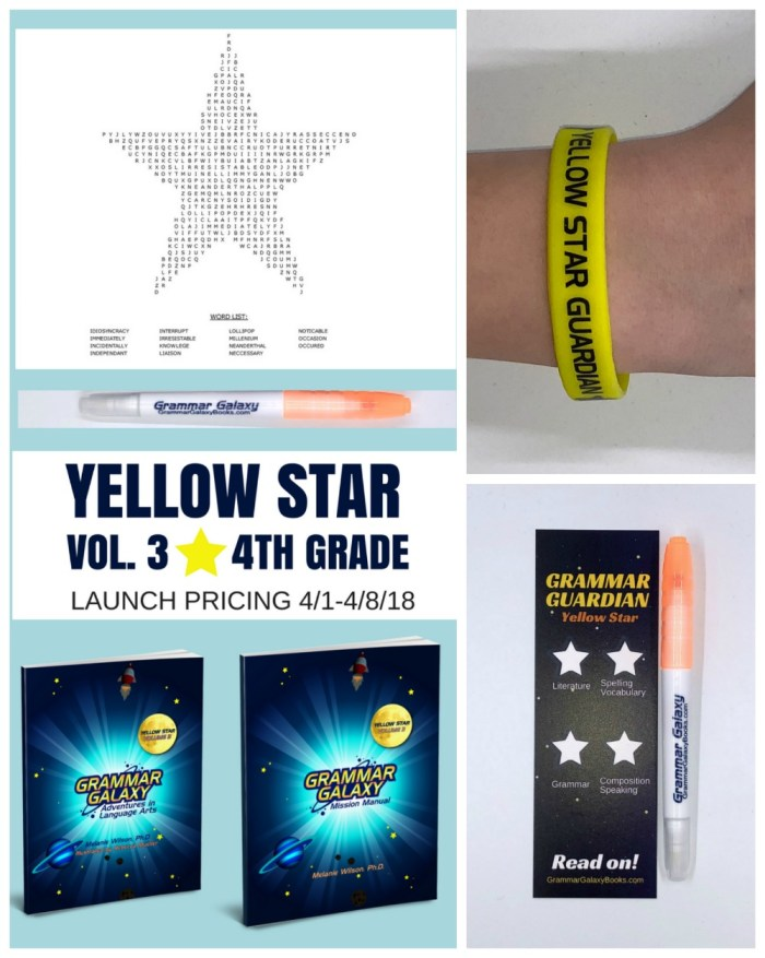 Yellow Star from Grammar Galaxy on sale during launch week