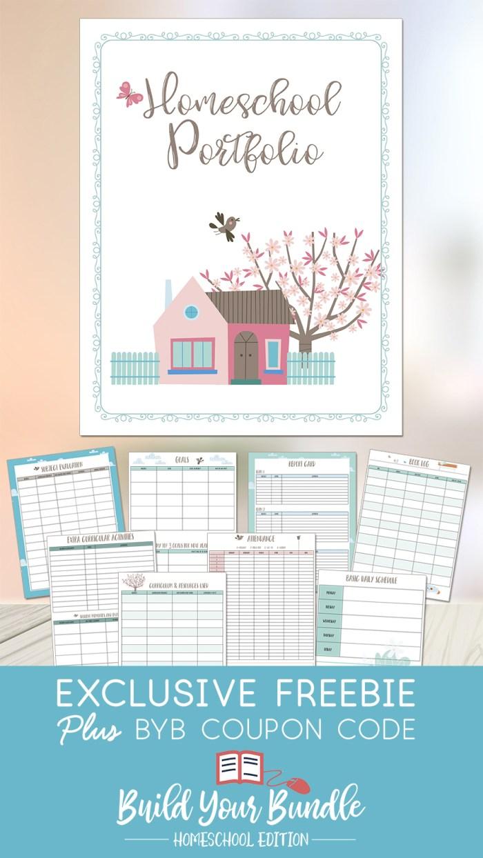 Build Your Bundle Freebie Homeschool Portfolio Pack