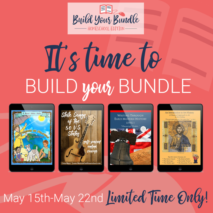 The Build Your Bundle homeschool curriculum sale is coming soon! Free Kitchen Binder printable pack for entering the Build Your Bundle giveaways! Build Your Bundle homeschool curriculum sale has a Build Your Own Bundle feature--pick what you want. The more you choose, the greater the discount! #ichoosejoyblog #homeschool #homeschoolcurriculum #byb2019 #buildyourbundle