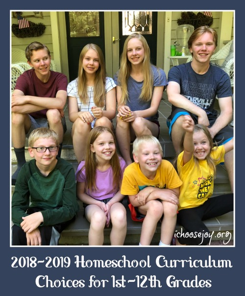 2018-2019 Homeschool Curriculum Choices for 1st-12th Grades + $250 Gift Card Giveaway