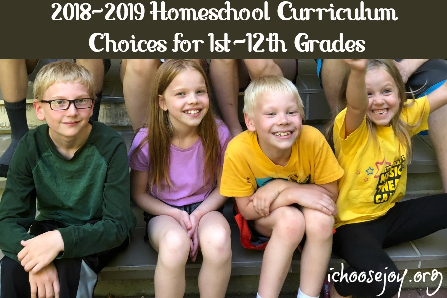 2018-2019 Homeschool Curriculum Choices for 1st-12th Grades