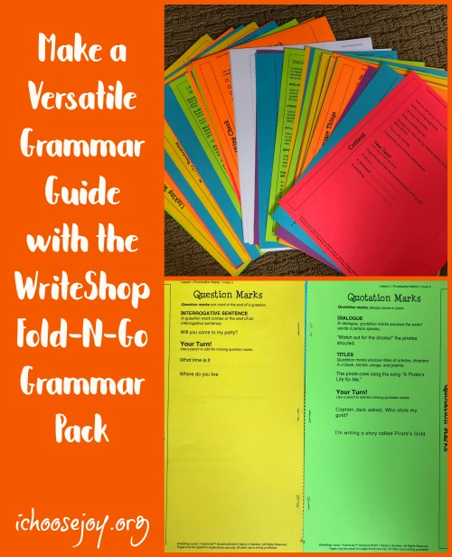 Make a Versatile Grammar Guide with the WriteShop Fold-N-Go Grammar Pack, review and giveaway