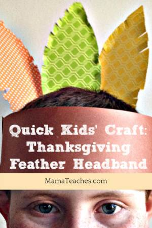 Thanksgiving Feather Headband for Thanksgiving activities for kids #thanksgiving #activitiesforkids #craftsforkids