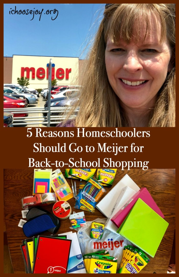 5 Reasons Homeschoolers Should Go to Meijer for Back-to-School Shopping