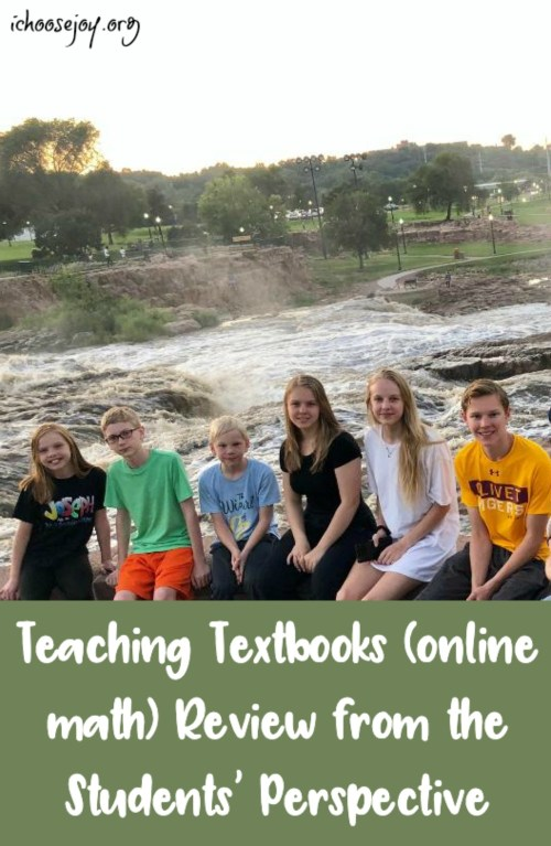 Teaching Textbooks review from the students' perspective #math #homeschoolmath #teachingtextbooks #ichoosejoyblog