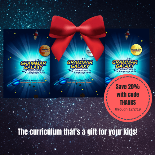 Grammar Galaxy Black-Friday sale! For language arts you and your kids will love.