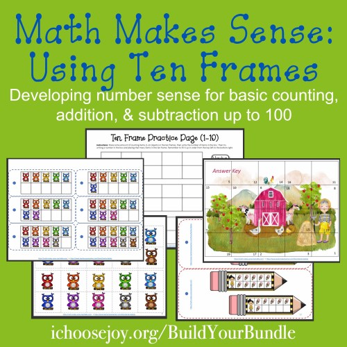Math Makes Sense: Using Ten Frames to develop number sense for basic counting, addition, and subtraction up to 100