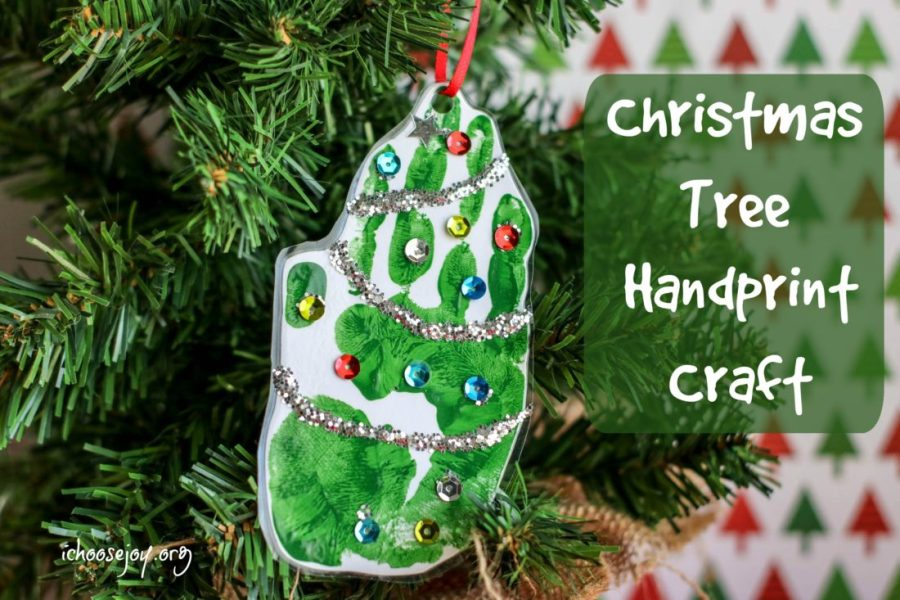 Christmas Tree Handprint Ornament Craft