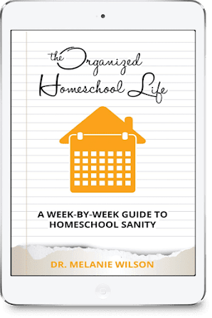 The Organized Homeschool Life is a week-by-week guide to homeschool sanity in only 15-minute missions!