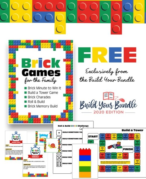 Freebie Brick Games for the Family pack. Insider Pro Tips for the 2020 Build Your Bundle Homeschool Sale