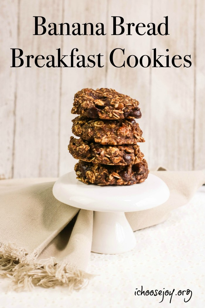 Banana Bread Breakfast Cookies recipe and tutorial
