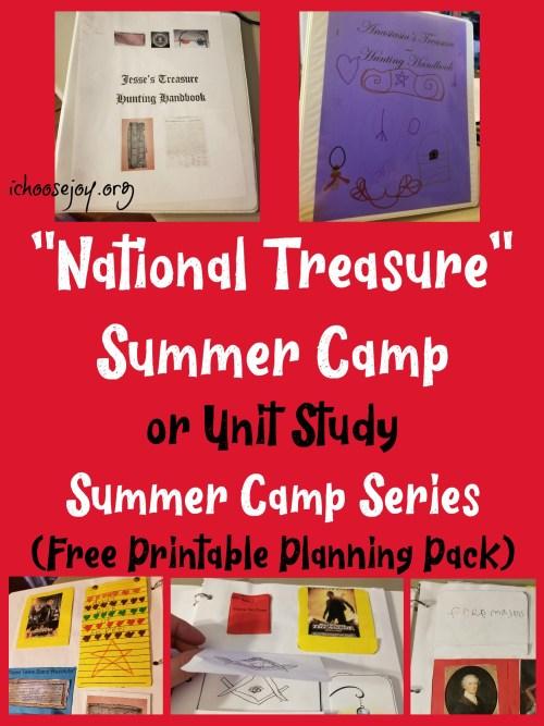 """National Treasure"" Summer Camp or Unit Study: Summer Camp Series"