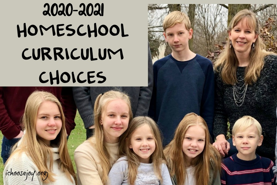 2020-2021 Homeschool Curriculum Choices 3rd - 11th Grades