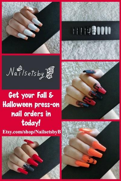 NailsetsbyB Fall & Halloween nail sets