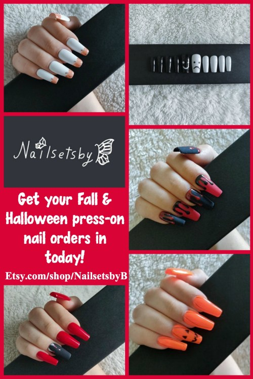 NailsetsbyB Fall & Halloween nail sets