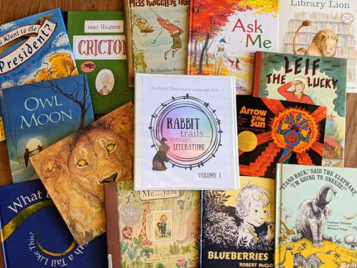 Rabbit Trails Through Literature curriculum for elementary language arts