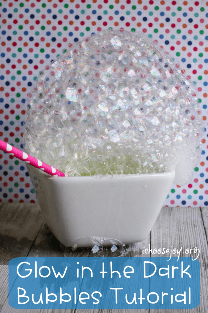 Glow in the Dark Bubbles tutorial