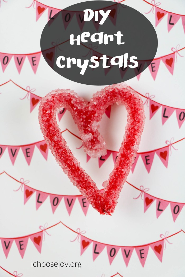 Heart Crystals-A Valentine's Day Science Experiment