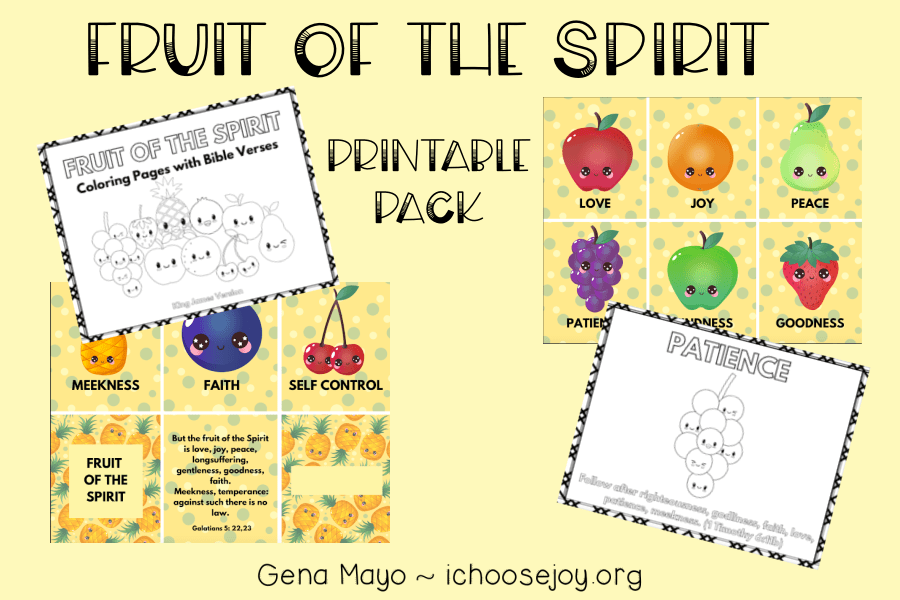 Fruit of the Spirit printable pack